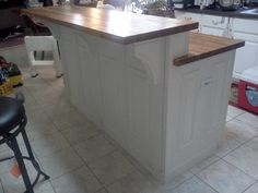 2 tier island | Two Tier white kitchen Island