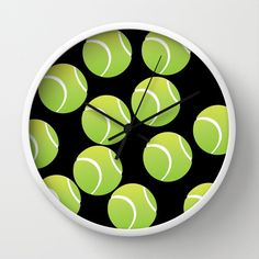 TENNIS BALLS  Wall Clock by Robleedesigns - $30.00