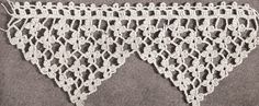 Dainty crochet edging - kitchen towels, bath towels, shelf edging- lovely!