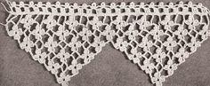 Dainty crochet edging - kitchen towels, bath towels, shelf edging- lovely!
