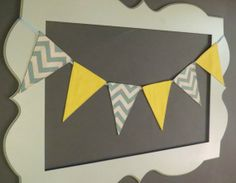 Mix and match blue chevron and yellow fabric by ThePartyOrchard, $30.00