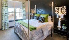Guest Room #black #pantone #emerald #white www.elainewilliamsondesigns.com