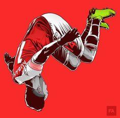 'Art Aubameyang Illustration' Poster by Squid Ganesa Arsenal Football Club, Aubameyang Arsenal, Arsenal Players, Soccer Art, Soccer Guys, Soccer Poster, Soccer Fifa, Football Design, Football Art
