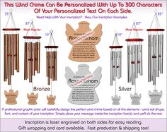 Angel Personalized Wind Chime The Perfect Personalized Gift