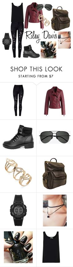 """Riley Davis From Macgyver"" by mfdedloff on Polyvore featuring WithChic, Chicwish, Yves Saint Laurent, Le Donne, Armitron and Vince"