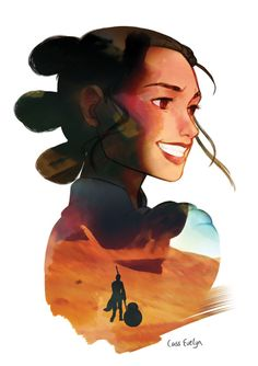 Rey on Jakku - Cass Evelyn