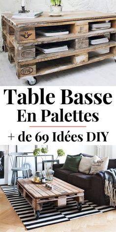 Table Basse Palette : TOP 69 des Idées les Plus Originales en 2019 !