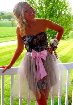 Cute camo prom dress. If it was orange instead of pink