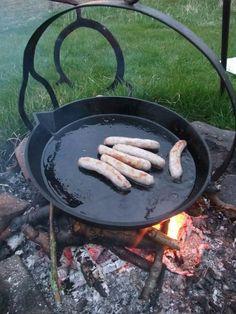 Campfire sausages