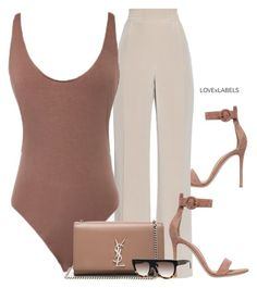 A fashion look from July 2016 featuring body suit, loose pants and suede shoes. Browse and shop related looks. Dressy Outfits, Chic Outfits, Fashion Outfits, Womens Fashion, Fashion Trends, Look Fashion, Autumn Fashion, Future Clothes, Going Out Outfits