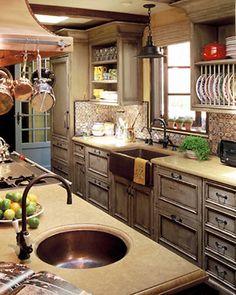 Copper kitchen sink and island sink