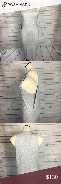 Acne Studios Midi Dress Basic tank dress front. Back has a cute detail. See photos. Gray. EUC. Acne Dresses Midi