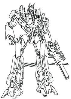 Print Optimus Prime Coloring Pages