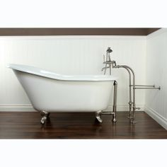 Slipper Cast Iron 60-inch Clawfoot Bathtub | Overstock.com Shopping - The Best Deals on Claw Foot Tubs