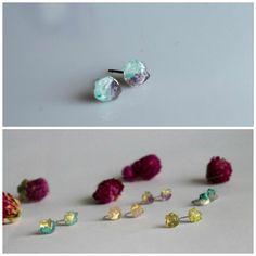 Stud Earrings blue topaz earrings Amethyst by CraftsGardenOfZen