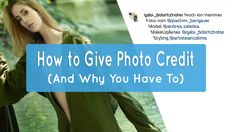 How to Give Photo Credit (And Why You Have To) There are many careers around the globe, and photography is one of them. Although majorly taken lightly, it takes a decent amount of skill to capture a great image. To capture all that accurately and create memorable photos is an art, worthy of acknowledgement.  […] How to Give Photo Credit (And Why You Have To) Giving, Photo Credit, Globe, How To Memorize Things, Told You So, Take That, Create, Photos, Photography