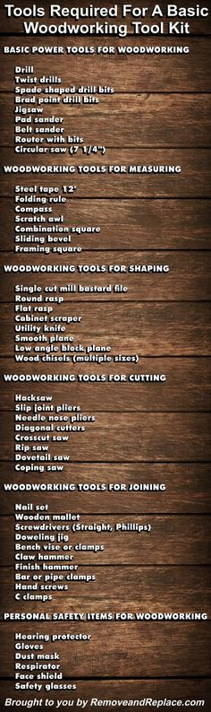 If you are just getting into the hobby of woodworking, below is a list of woodworking tools that will help you get started. The tools we have listed are essential for having the ability to do almost any wood working project yourself. For some special projects, obviously you will need a specialized woodworking tool that … … Continue reading → #woodworkingtools