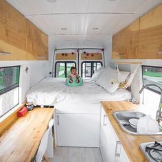 @ourhomeonwheels just built out a new van to accommodate their growing family. Follow their feed to see what life on the road is like with a little one —————  Show off your Sprinter Van! Tag #sprintercampervans to be featured! —————