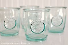 Authentic Recycled Glass Jars for Making Scented Candles