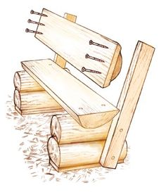 Weekend Project: DIY Log Bench Screw the backrest to the backrest support logs using three or four screws per side. (Figure Optionally, stain or finish the bench. When he isn't crafting outdoor furniture out of logs, Mike (Diy Bench With Backrest