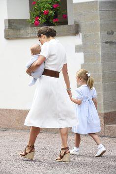 Detta märke bar kronprinsessan Victoria under Victoriadagen