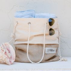 Canvas + rope tote