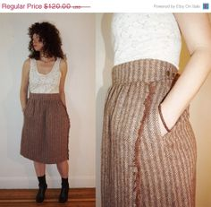 Sale Vintage 1980s Escada Wool Skirt / by honeysuckleandhearts, $84.00