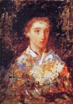 Mary Cassatt (American artrist, 1844-1926) A Young Girl 1876