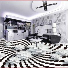 3d Floor Art, 3d Floor Painting, Floor Murals, Floor Wallpaper, Custom Wallpaper, Decorating Your Home, Interior Decorating, 3d Living Room, 3d Flooring