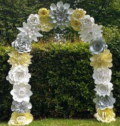 Papel flor arco boda arco arco de la flor boda lugar