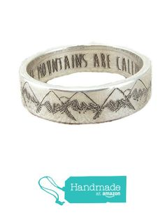 Mountain Ring - Silver Band from Emily Jane Designs
