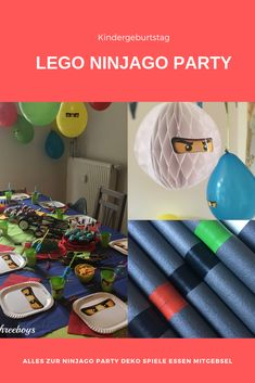 {Advertising without order} Ninjago children's birthday for the birthday - children's pa Boys Hunting Room, Duck Hunting Decor, Hunting Home Decor, Ninjago Party, Graduation Party Decor, Panda, Birthday Kids, Party Party, Valentines