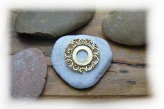 Rico Ring Aufsatz Metallscheibe Ornament gold von DaiSign auf DaWanda.com