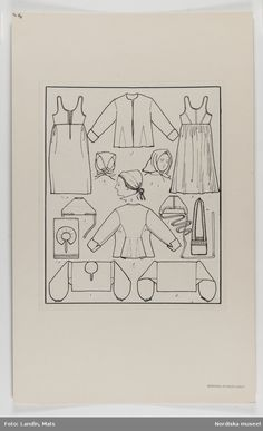 Folk Costume, Costumes, Period Outfit, Everyday Dresses, Scandinavian Christmas, Sewing Patterns, Art Patterns, Pattern Making, Pattern Art