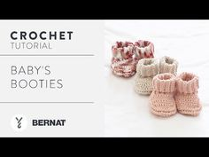 Easily craft these precious little booties in our popular Bernat Handicrafter Cotton. | Yarnspirations