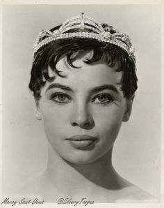 The Glass Slipper (1955). Leslie Caron wearing Joseff of Hollywood jewels