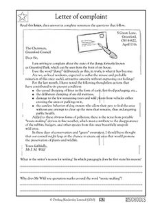 english letter essay questions and answers