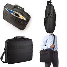 Ergonomic Laptop Bag 17.3-Inch MacBook Notebook Case Pocket Accessory Storage