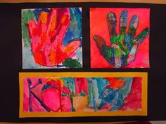 Kindergarten art lesson, warm and cool colors lesson, toddler art, oil pastels, watercolor - Looks like a good lesson for first too.