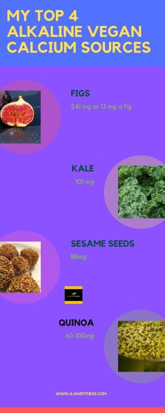 My top 4 Alkaline Vegan Calcium sources, which means we adhere to Dr. Sebi recommendations from the list. These foods are present on the list and have the highest amounts of Calcium that I consume on a normal bases. Vegan Calcium Sources, Foods With Calcium, Whole Food Recipes, Vegan Recipes, Alkaline Diet Recipes, Vegan Dishes, Vegan Vegetarian, Clean Eating, Nutrition