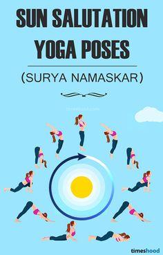 Sun Salutation (Surya Namaskar) Yoga pose for Weight Loss. Beginner in yoga? Start with Sun Salutation, powerful yoga for weight loss, especially for belly fat Quick Weight Loss Diet, Easy Weight Loss Tips, Weight Loss Help, Yoga For Weight Loss, Lose Weight At Home, Need To Lose Weight, Reduce Weight, Surya Namaskar, How To Start Yoga