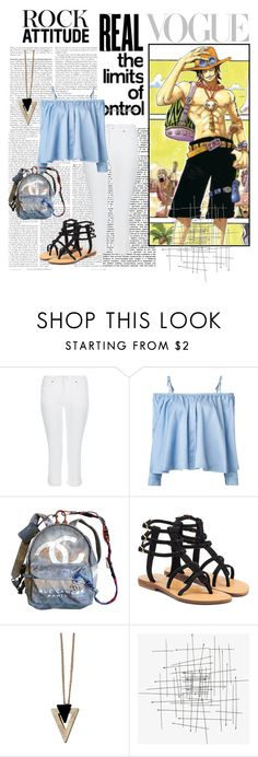 """""""Traveling with Portgas D. Ace - Alabasta"""" by blackorchid1004 ❤ liked on Polyvore featuring Monsoon, Sandy Liang, Chanel, Mystique, Chicnova Fashion, anime, onepiece, fashionset and PortgasDAce"""