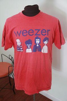 Vintage red Weezer rock tour concert t shirt-Large