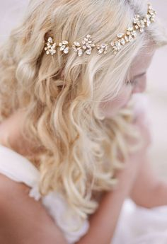 Wedding Hairstyle Inspiration LOVE  the hair piece