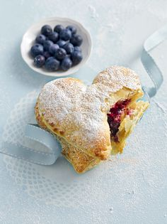 blueberry puff pastry hearts