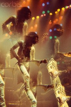 Freddie Mercury and Brian May by Martyn Goddard at the Hammersmith Odeon, London, 1974