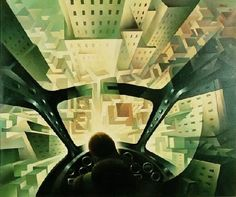 Nose Dive on the City by Tullio Crali - 1939