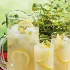 Lemon Mint Cooler ~ sure to hit the spot when served with a meal or as an afternoon refresher.