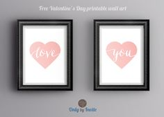Free Valentine's Day printable wall art