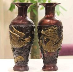 Rare Chinese Folk Copper Bronze Gild Dragon Phoenix Play Bead Bottle Pot Vase Pair Garden Decoration 100% real Brass Bronze,   Engagement Rings,  US $260.00,   http://diamond.fashiongarments.biz/products/rare-chinese-folk-copper-bronze-gild-dragon-phoenix-play-bead-bottle-pot-vase-pair-garden-decoration-100-real-brass-bronze/,  US $260.00, US $260.00  #Engagementring  http://diamond.fashiongarments.biz/  #weddingband #weddingjewelry #weddingring #diamondengagementring #925SterlingSilver…